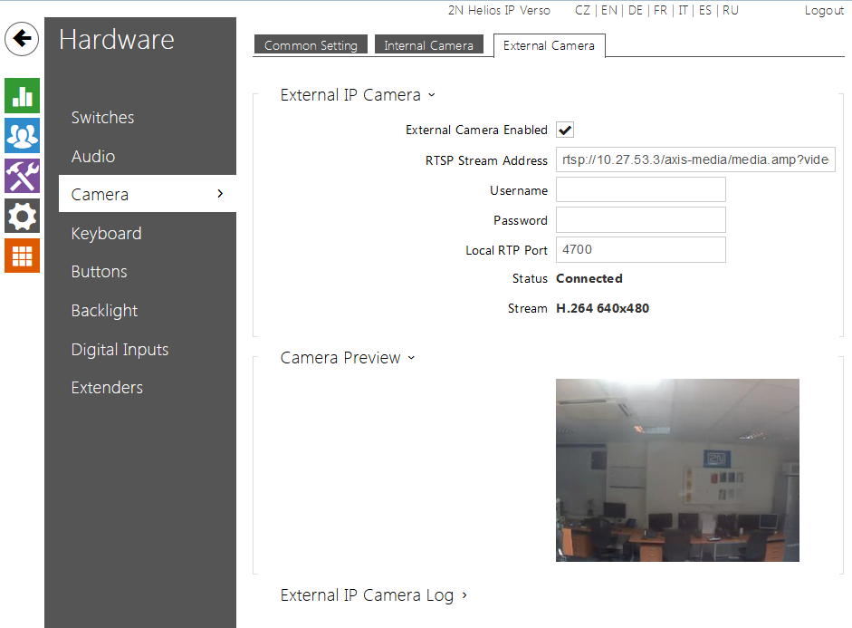 Universal Axis Camera Settings - Interoperability Manual