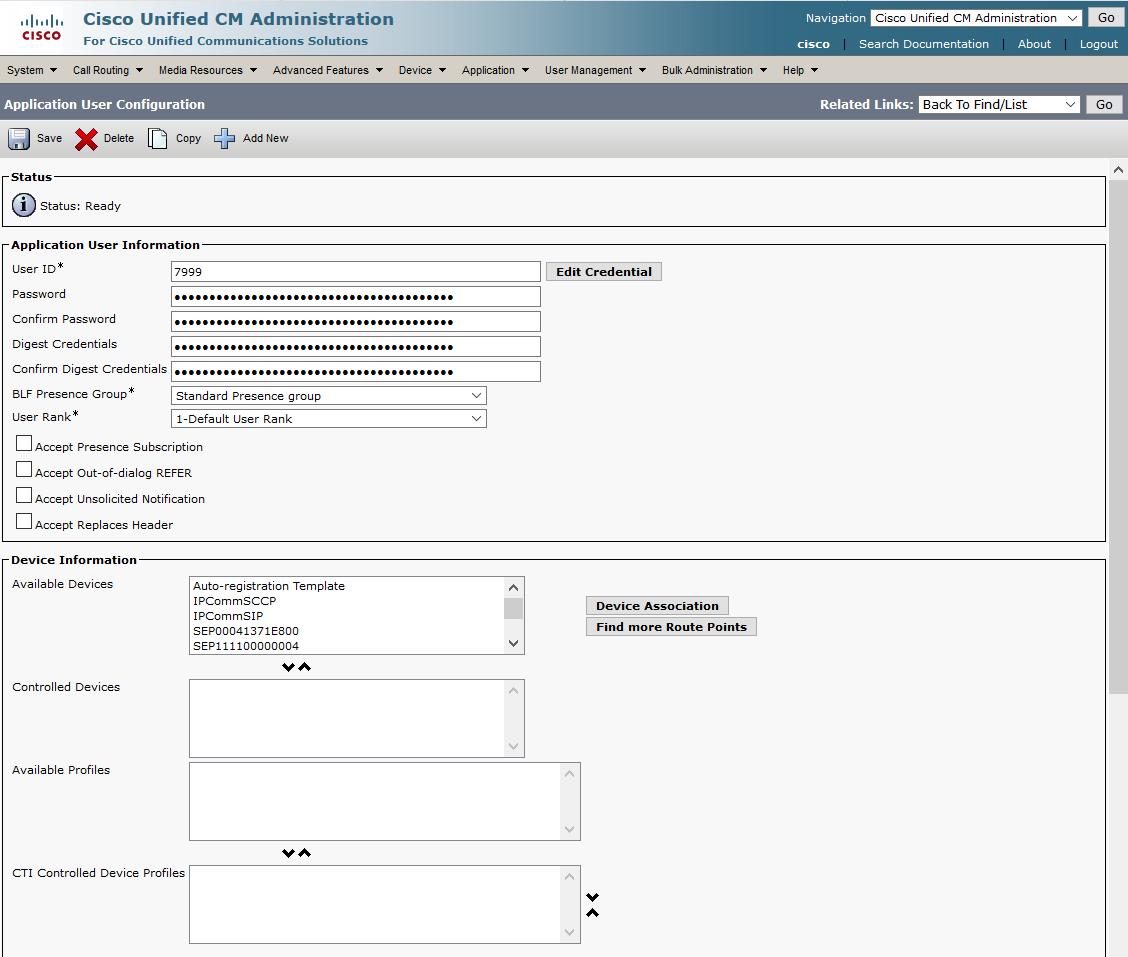 Cisco CUCM - Interoperability Manual