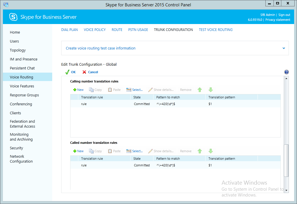 Skype for Business - Interoperability Manual