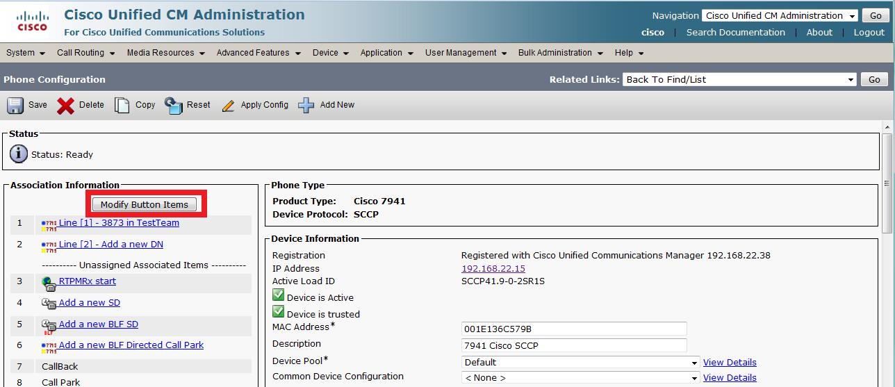 Cisco 7941 Interoperability Manual