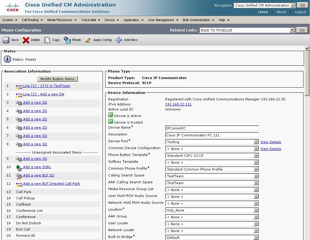 Cisco IP Communicator - Interoperability Manual