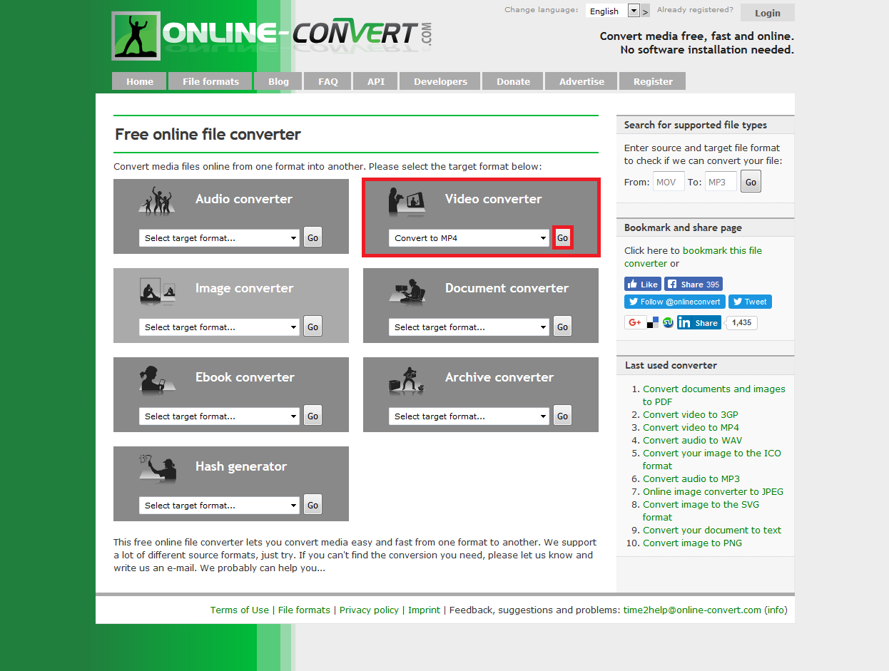 Online-convert com - Interoperability Manual