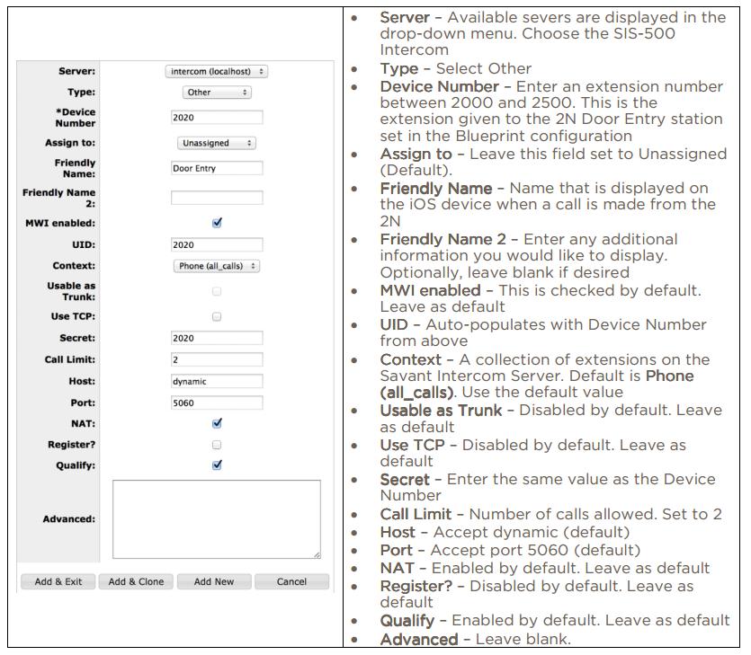 Savant SIS-5000 - Interoperability Manual