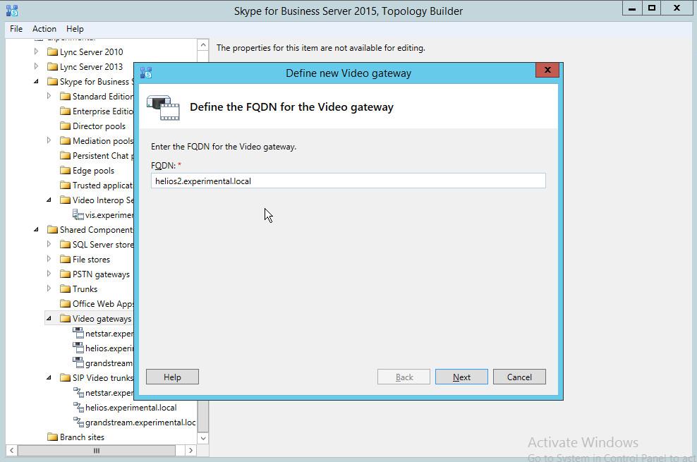 skype for business manual configuration server name